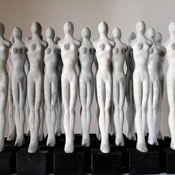 Mehrlinge, Zement, H 31,5 cm, Auflage 20, 2004